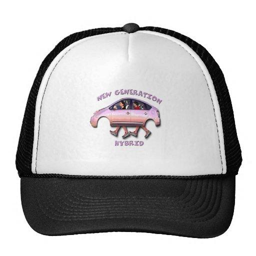 New generation hybrid car trucker hats