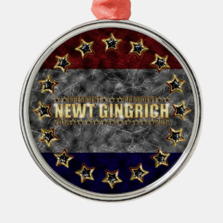 New Gingrich Stars and Stripes Christmas Ornament