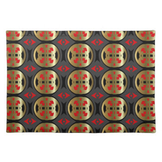New Gold Red Black & Gray Designer Placemat Gift