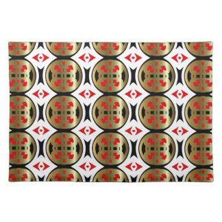 New Gold Red Black & White Designer Placemat Gift