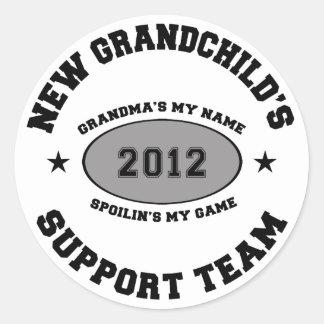 New Grandchild 2012 Round Sticker