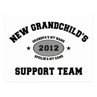New Grandchild 2012 Support Team Postcard