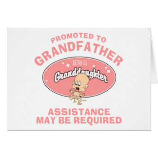 New Granddaughter Promoted To Grandfather Greeting Card