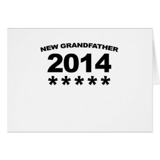New GRANDFATHER 2014 Shirt.png Greeting Card