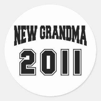 New Grandma 2011 Round Sticker