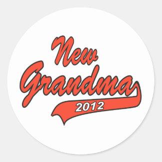 New Grandma 2012 Stickers