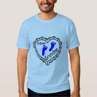 New Grandma Baby Boy Heart T-shirts