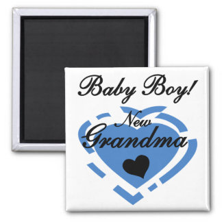 New Grandma Baby Boy Tshirts and Gifts Fridge Magnets