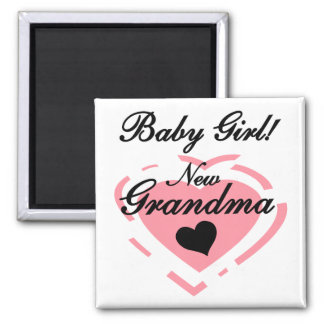 New Grandma Baby Girl Tshirts and Gifts Magnet