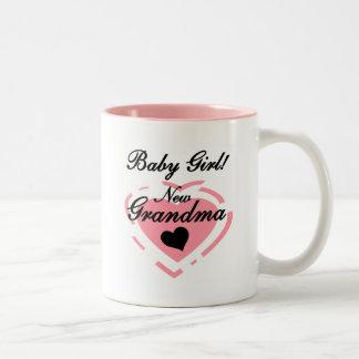 New Grandma Baby Girl Tshirts and Gifts Coffee Mug