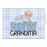 New Grandma, Boy Greeting Cards