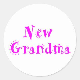 New Grandma Classic Round Sticker