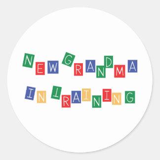 New Grandma In Training Round Sticker