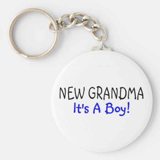New Grandma Its A Boy Key Chain