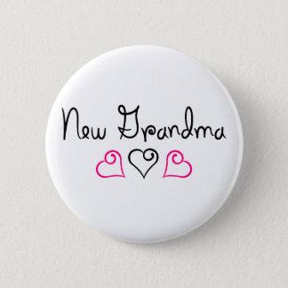 New Grandma Pink Black Hearts 6 Cm Round Badge