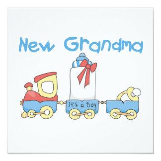 New Grandma-Train Gifts 13 Cm X 13 Cm Square Invitation Card