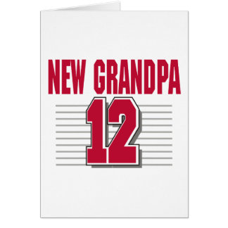 New Grandpa 2012 Greeting Card