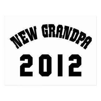 New Grandpa 2012 T-Shirts Gifts Cards Postcard