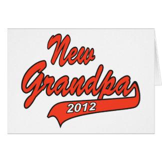 New Grandpa Grandfather 2012 Greeting Card
