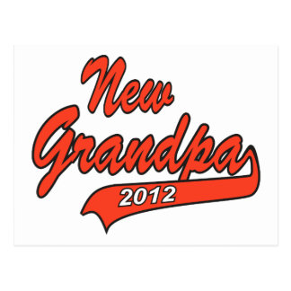New Grandpa Grandfather 2012 Postcard