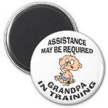 New Grandpa In Training Gift 6 Cm Round Magnet