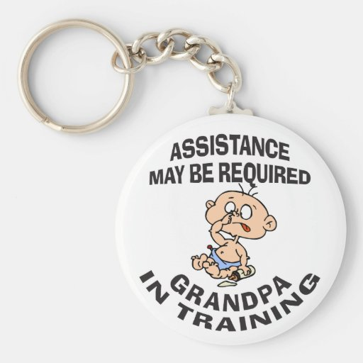 New Grandpa In Training Gift Key Chains