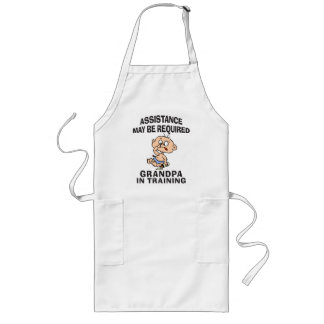 New Grandpa In Training Long Apron