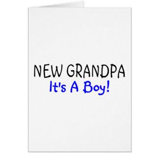 New Grandpa Its A Boy Cards