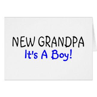 New Grandpa Its A Boy Greeting Card