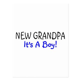 New Grandpa Its A Boy Postcard