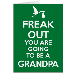 New Grandpa to Be Pregnancy Announcement Card