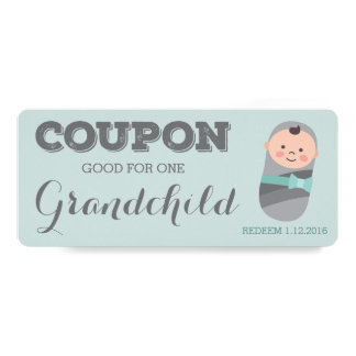New Grandparent Announcement Coupon for Grandchild