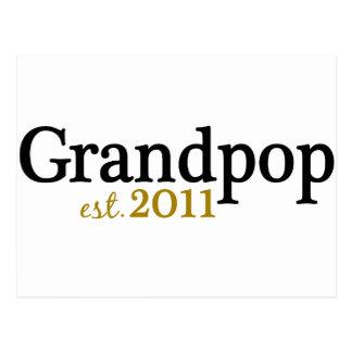 New Grandpop est 2011 Postcard
