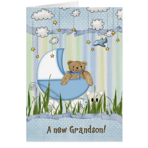 New Grandson Greeting Cards