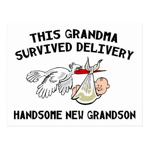 New Grandson Postcard