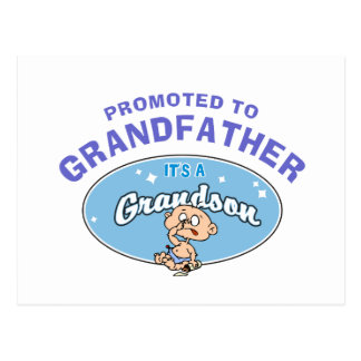 New Grandson Promoted To Grandfather Postcard