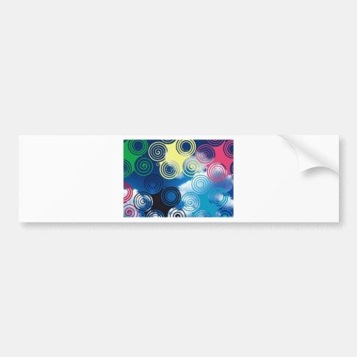 New graphic sky design bumper stickers