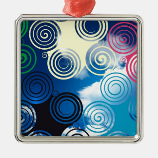 New graphic sky design christmas ornament