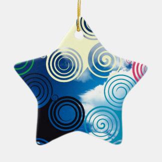 New graphic sky design christmas ornament