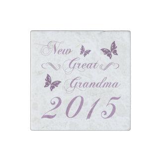 New Great Grandma 2015 Stone Magnet