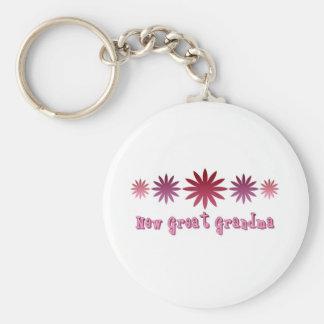 New Great Grandma Basic Round Button Key Ring