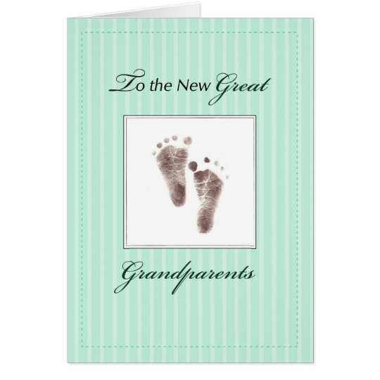 New Great Grandparents of Baby, Neutral Green Card
