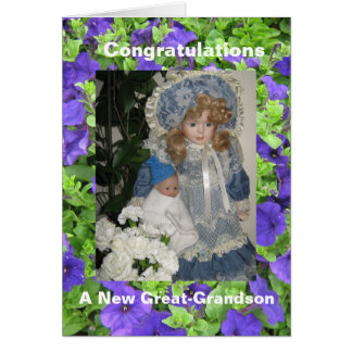 new great grandson greeting card