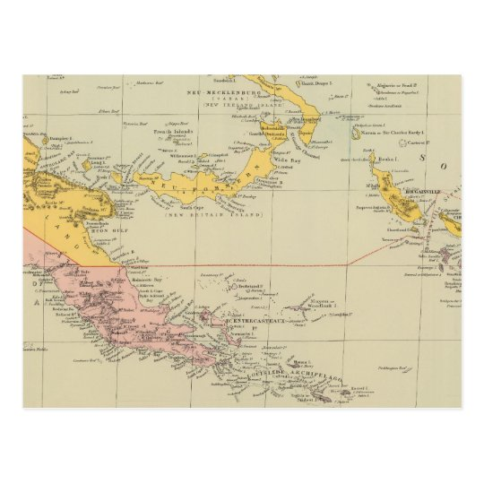 New Guinea and Solomon Islands Postcard