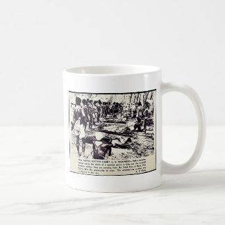 New Guinea Natives Carry U.S. Wounded Basic White Mug