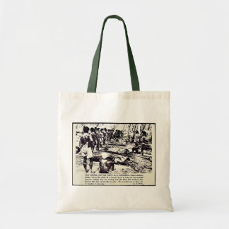New Guinea Natives Carry U.S. Wounded Budget Tote Bag