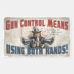 New Gun Rights Gear Rectangle Sticker