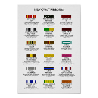 New GWOT Ribbons Poster