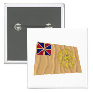 New Hampshire 2nd Regiment Waving Flag 15 Cm Square Badge
