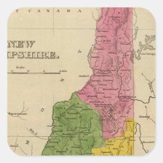New Hampshire 6 Square Sticker
